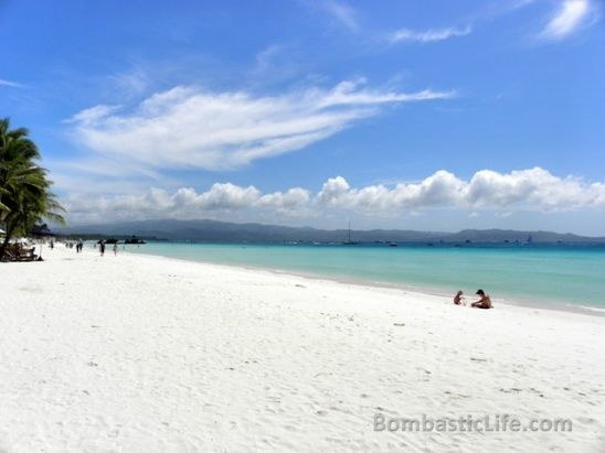 Beach at Discovery Shores Resort in Boracay, Philippines.