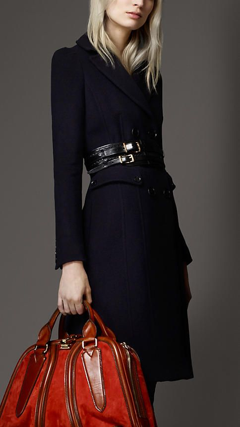 Wool Blend Military Coat | Burberry