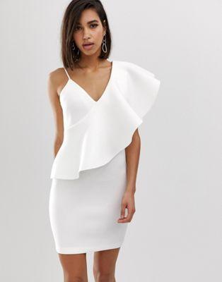 Shoulder Scuba In Exaggerated Dress Lavish Mini One Alice Frill ScAR3Ljq54
