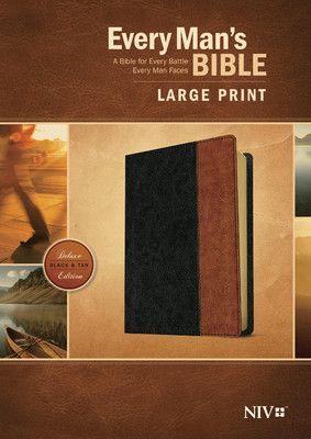 Personalized Every Man's Bible NIV, Large Print, Tutone