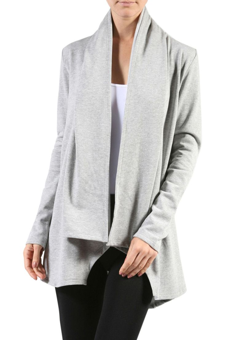 Long Sleeve Open Front Fleece Cardigan | Bodilove Trendy Clothes ...
