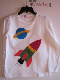 VISTELAS. Camiseta patchwork infantil