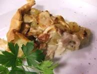 Torta di pollo patate e fagioli
