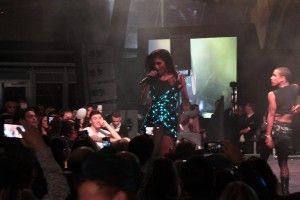 Nicole Scherzinger LED dress dancing At Battersea Power