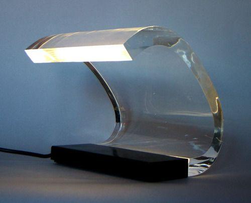 Joe Colombo- Acrilica asztali lámpa