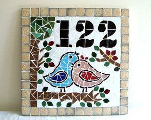 Numero mosaico 30x30 cm