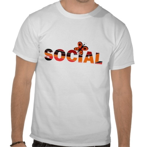 Are you a social butterfly? Have a T-shirt!
