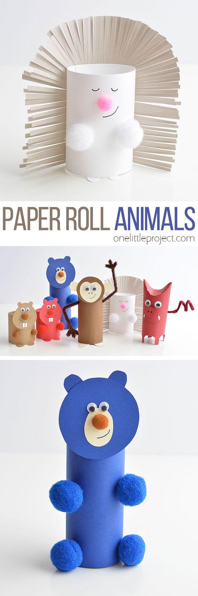 Wie man Papierrollentiere macht   – Papier