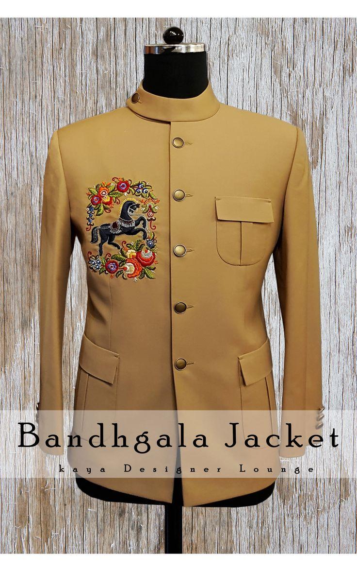 Traditional Wear Jodhpuri Suit  Designer Wear Ethnic Jacket Bandhgala Handwork Motif Embroidery Embroidered Jacket Fall 2017-18  kayadesignerlounge kdllifestyle kaya Designer Lounge kdl Lifestyle