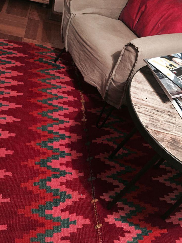 Antigua alfombra hecha a mano, Santiago del Estero, Argentina.