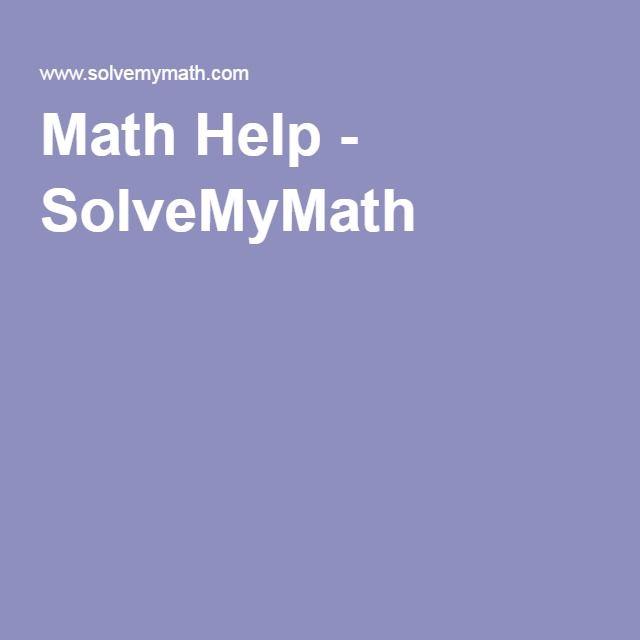 Math Help - SolveMyMath