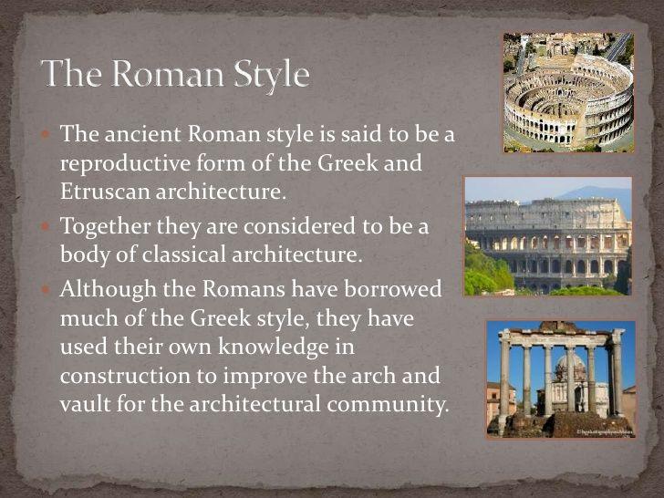 Ancient Roman Architecture Ancient Roman Architecture Roman Architecture Ancient Romans