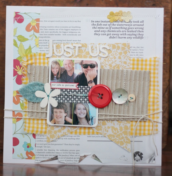 Today on the Etz blog - a step by step scrapbooking tutorial.