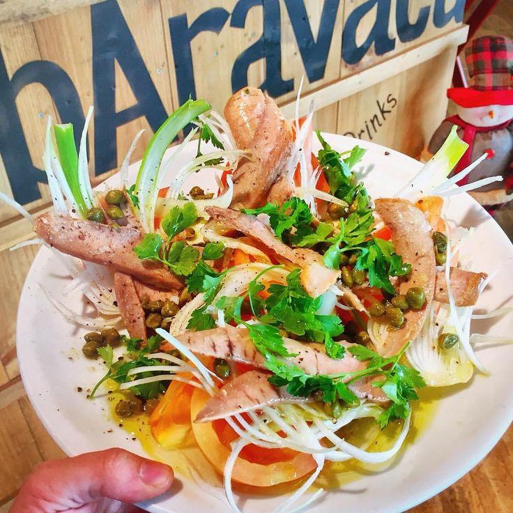 Ensalada de tomate y ventresca made in Baravaca