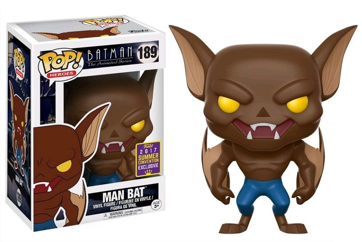 Funko POP Batman Animated Series Man Bat 2017 SDCC Exclusive #189
