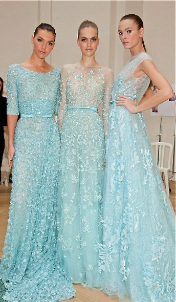 Elie Saab  You know I had to pin this because I love, love, love this color.