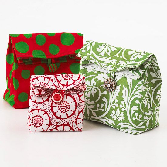Lunch Sack Gift Bags: Gift Bags, Gifts Bags, Sacks Gifts, Lunches Bags, Bags Patterns, Lunches Boxes, Lunches Sacks, Fat Quarter, Lunchbag