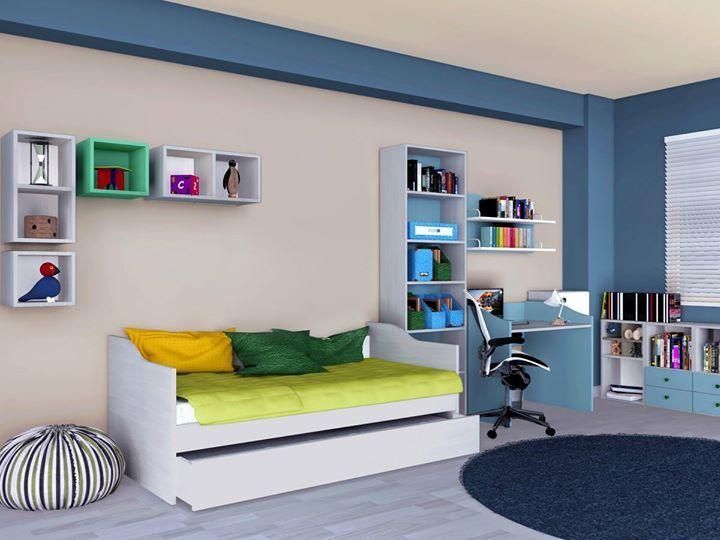 Ολοκληρωμένο Παιδικό Δωμάτιο TETRA με καναπέ-κρεβάτι: Μια έξυπνη και πρακτική λύση που εξοικονομεί χώρο και προσφέρει στο παιδί σας εύκολη οργάνωση και απόλυτη άνεση!   Δείτε όλες τις προτάσεις #Eliton για παιδικό δωμάτιο: http://ift.tt/23auD5A