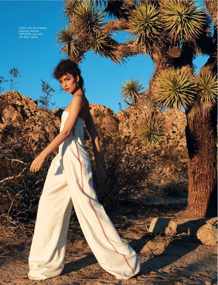 Luma Grothe Wears Glamorous Desert Style in BAZAAR