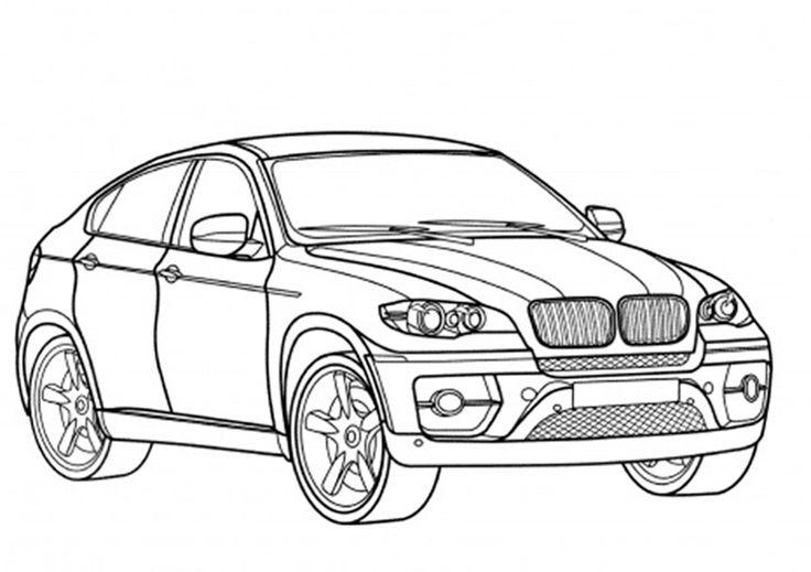 Ausmalbilder Autos BMW X6 | Cars ausmalbilder, Ausmalen ...