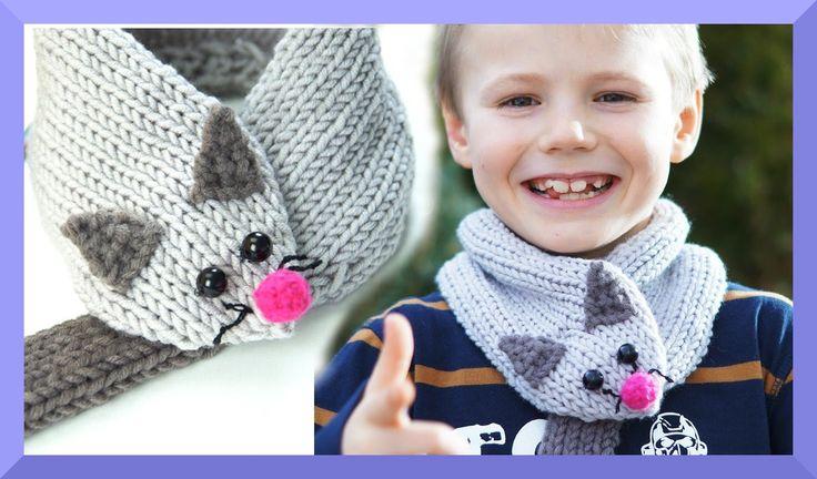 Schal für Kinder stricken - Maus Schal - einfach für Anfänger - Kanal Hä...
