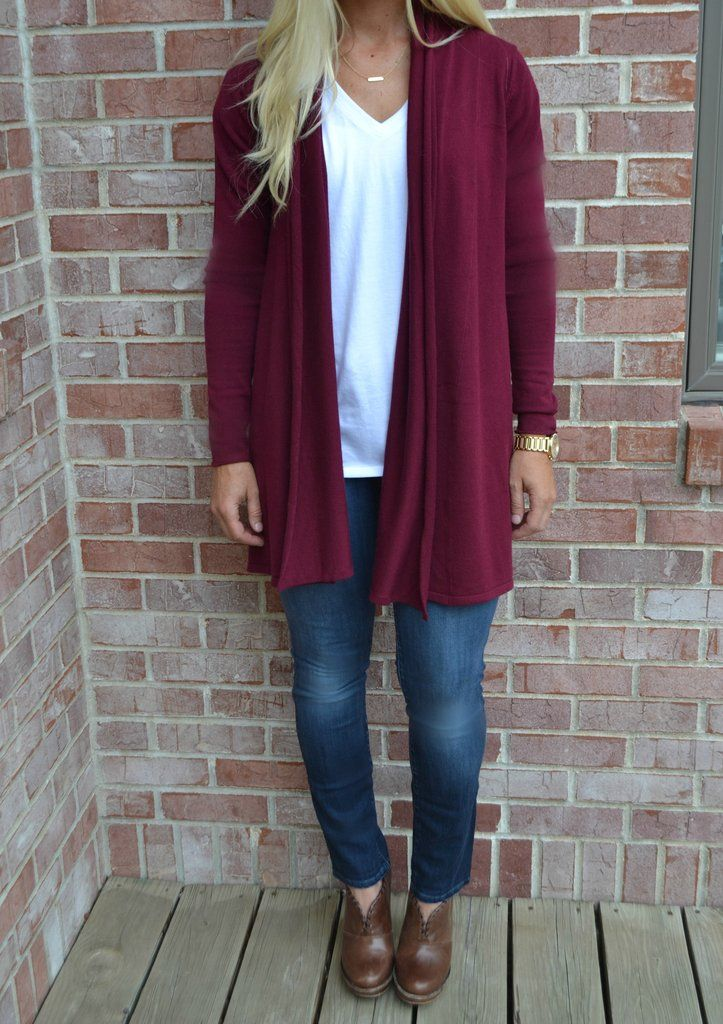 Best 25  Burgundy cardigan ideas on Pinterest | Teen fashion fall ...