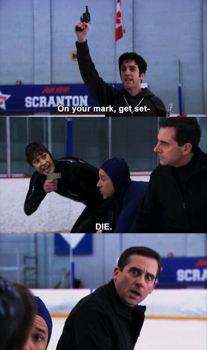 - Threat Level Midnight.  Gotta admit..  Threat Level Midnight was really awesome.  The fact that poor Micheal thought it was a good movie...  as Pam would say...  Oh Michael!  The poor office mates watching it in amusement but not allowed to laugh knowing Michael would turn it off.  Poor delusional Michael.  Wonder if he still dreams of writing a big movie?