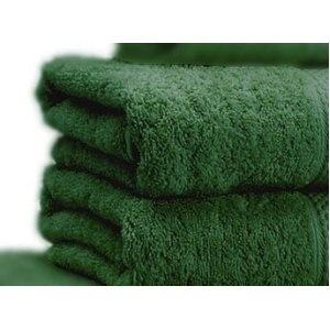 LARGE dark green towels