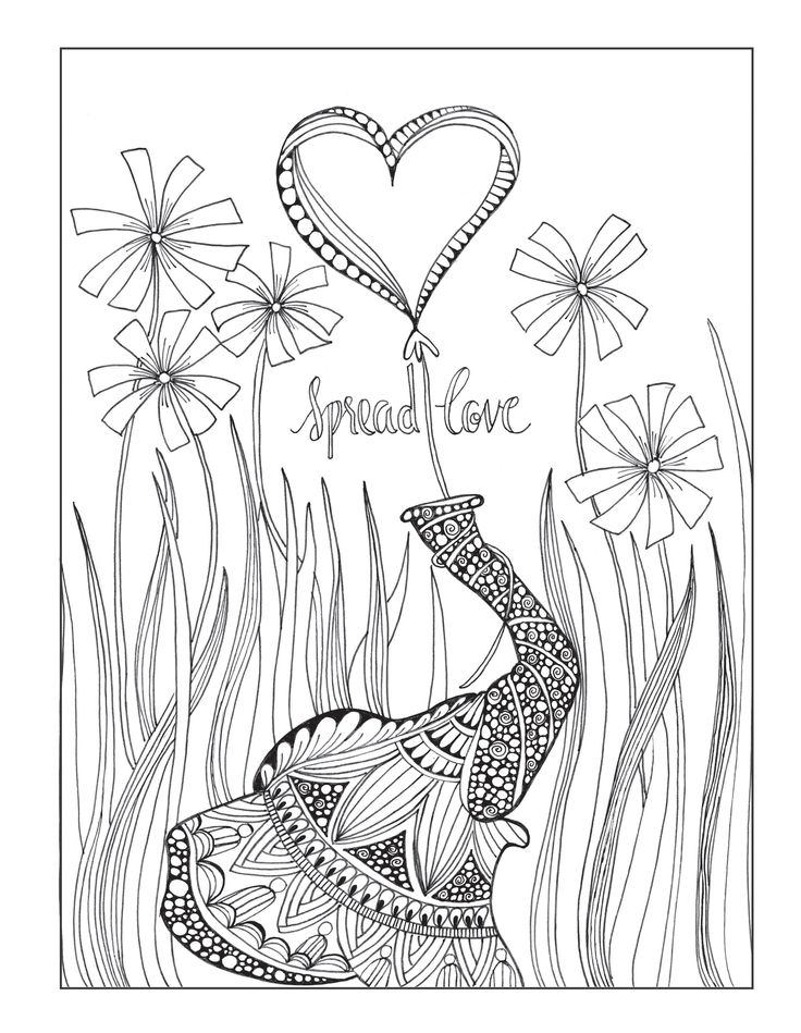 A Page From The Inkspirations For Recovery Coloring Book