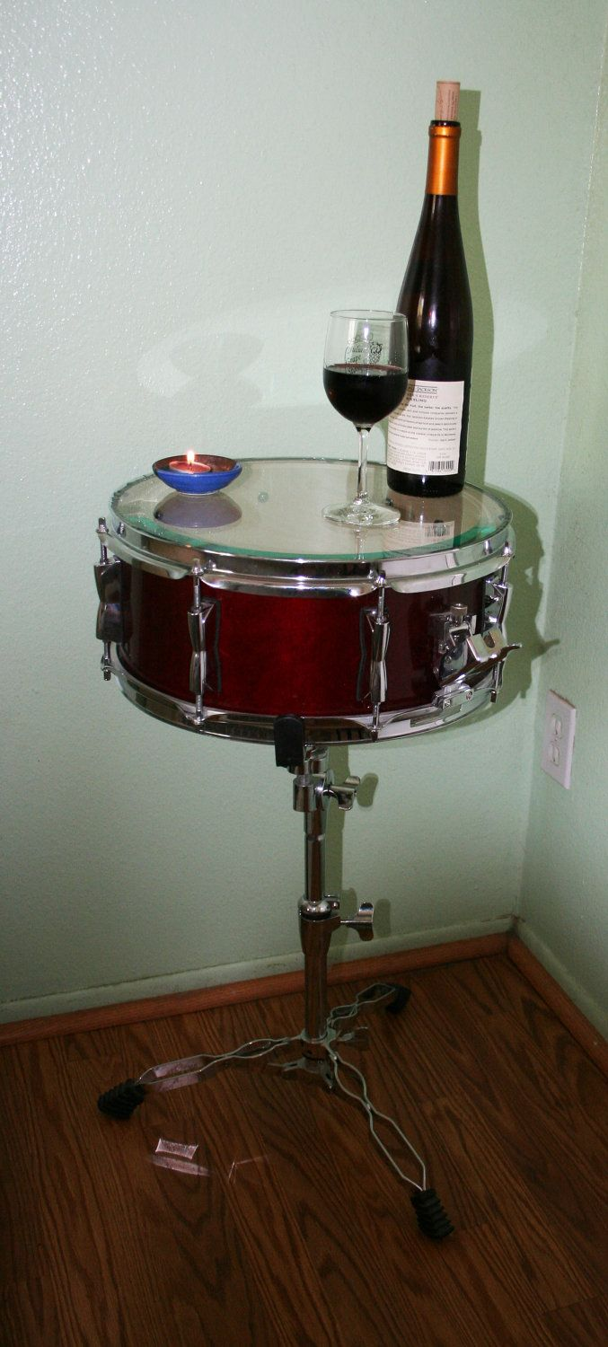 Snare Drum End Table. $220.00, via Etsy.                                                                                                                                                                                 More