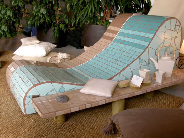 Chaises longues manonlisa mosa que mosaics for Chaise longue design piscine