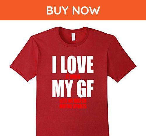 Mens Ice Hockey Girlfriend and Boyfriend Sports T Shirt Small Cranberry - Sports shirts (*Amazon Partner-Link)