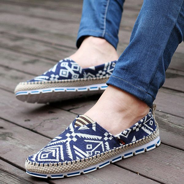 Mens Spring Fashion Casual Multipurpose Round Toe Slip On Flats Shoes