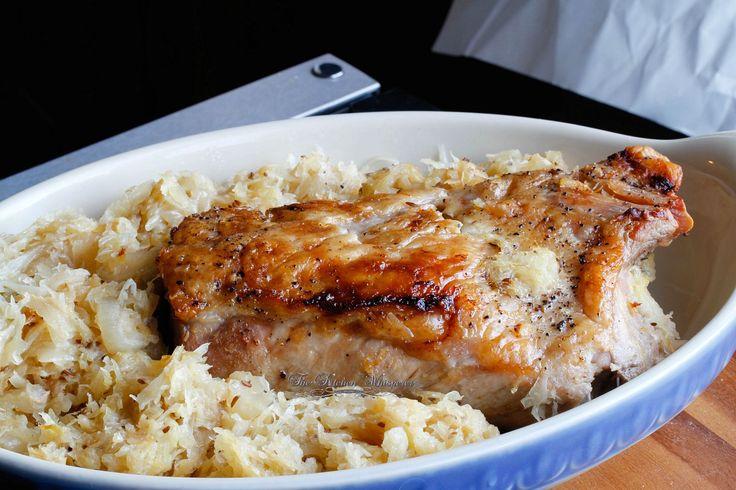 Best Ever Pork Roast and Sauerkraut, epicurious, New Year's Pork & Sauerkraut, Pork Roast, Oven Pork and kraut, Ultimate Pork & Sauerkraut, New Year's Eve Food, Good Luck Pork Roast, Crock pot pork and sauerkraut, slow cooker pork roast