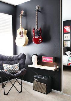 Men's study guitar wall display - Google Search