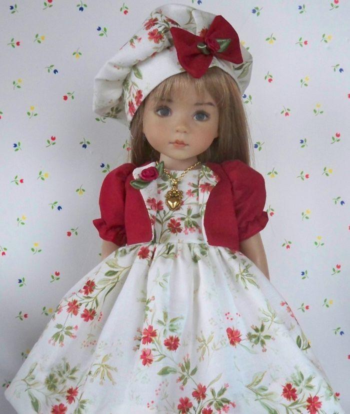 "**Rosie Posies** Dress, Jacket, Hat, etc. for 13"" Effner Little Darling Dolls  PETITE FILLE MODELE **+"
