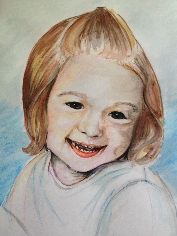 I haven't painted or drawn for at least 5 years. Now i have a bit of time it is nice to get back into it :) here is my very first attempt EVER of drawing my daughter. It looks a bit like her :D