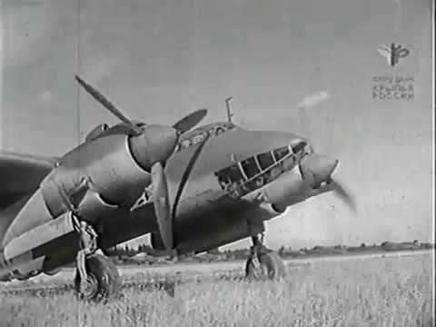 Вынужденные прыжки с парашютом - 1945 Учебный фильм для Красной Армии