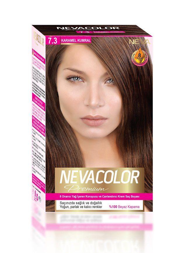 Nevacolor Premium Sac Boyasi 7 3 Karamel Kumral Sac Boyasi Sac Yag