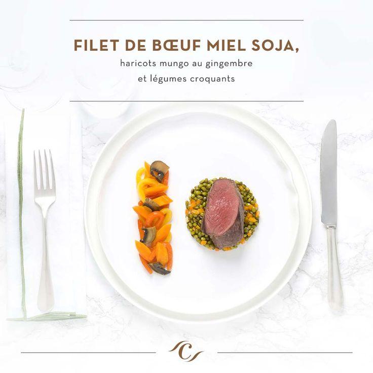 [Carte Inspiration] Filet de bœuf miel soja, haricots mungo au gingembre et légumes croquants