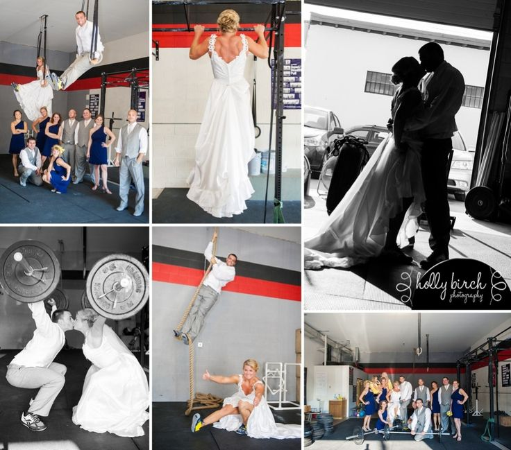 Crossfit junkies on their wedding day!
