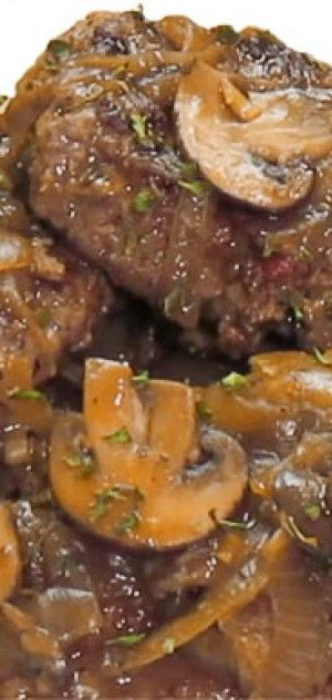 Ζουμερά & αφράτα μπιφτέκια μοσχαρίσια σε σάλτσα μανιταριών