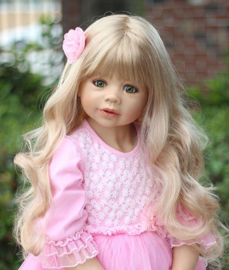 "NWT RARE Masterpiece Dolls Coco Blonde GREEN Eyes By Monika Levenig 39"""