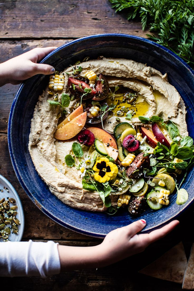 Farmers Market Hummus - your new go-to, healthy, light & easy, perfect for everything from backyard parties to single lady dinners! @halfbakedharvest.com