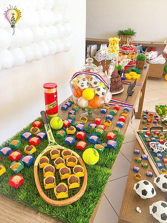 Decoração de mesa - Festa Olimpíadas