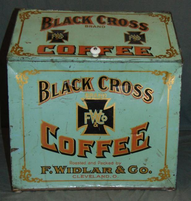 Black Cross Coffee Store Counter Bin : Lot 74A