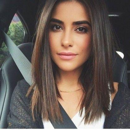 Haarschnitte mittlere Länge #haarfarbe #frisurenfrauen #mittellangeshaar #bobfr…  # Frisuren