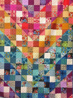 Love the subtle chevron! > Anna Maria Horner True Colors Quilt