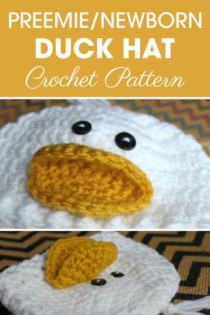 Little Duckling Crochet Hat/_Crochet Baby Halloween Hat