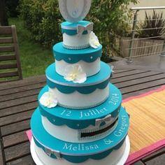 Urne mariage wedding cake orchidée
